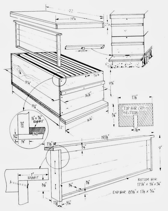 Bee box plans the honey company for Beehive plans blueprints